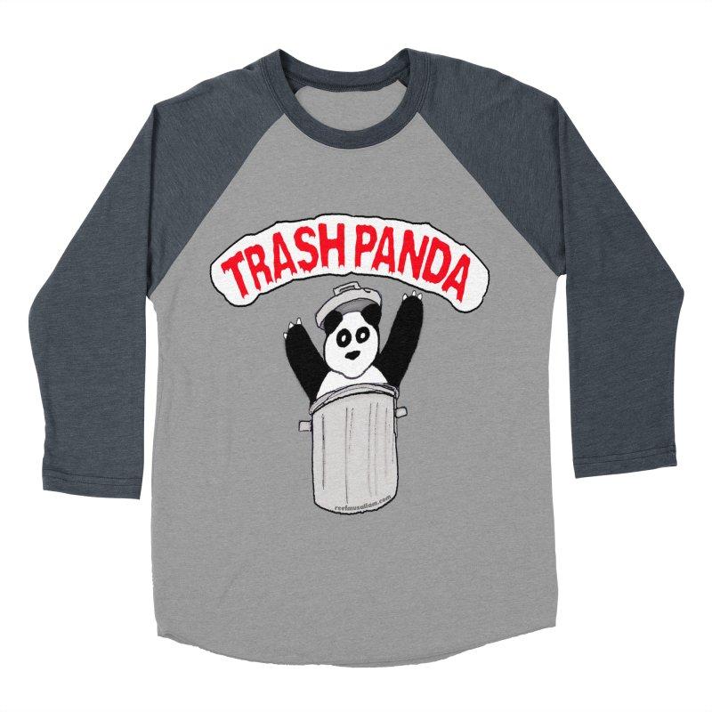 Trash Panda Women's Baseball Triblend T-Shirt by Reef Musallam's Artist Shop