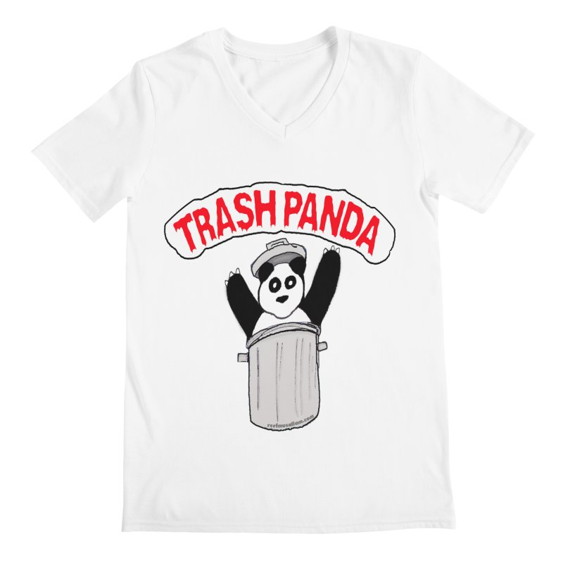 Trash Panda Men's V-Neck by Reef Musallam's Artist Shop
