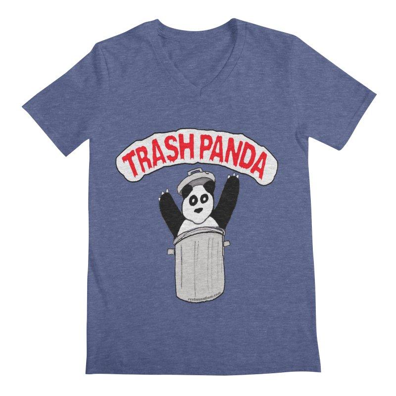 Trash Panda Men's V-Neck by Reef Musallam's Artist Shop