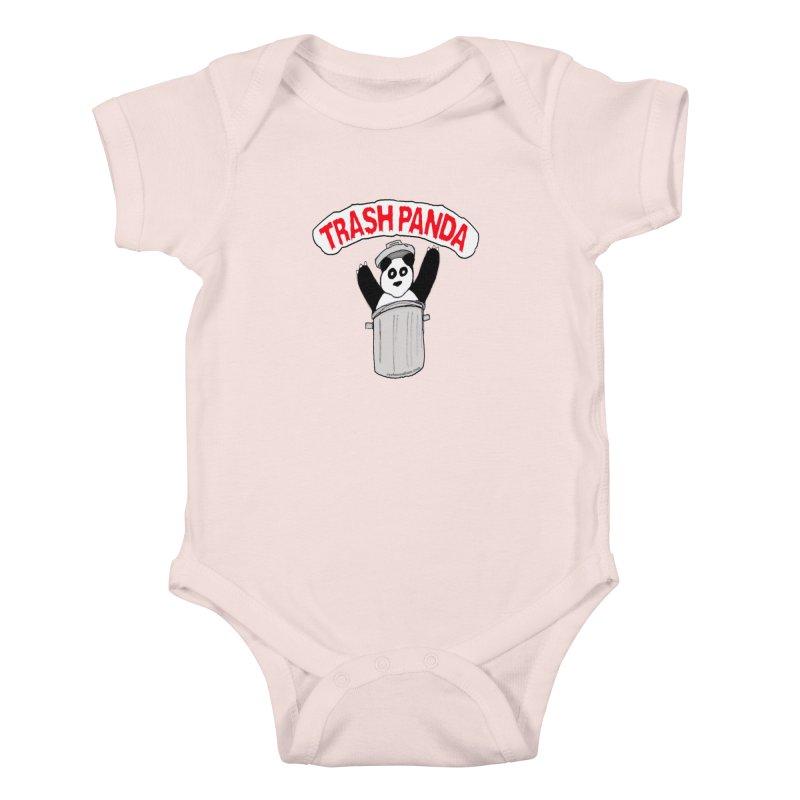 Trash Panda Kids Baby Bodysuit by Reef Musallam's Artist Shop