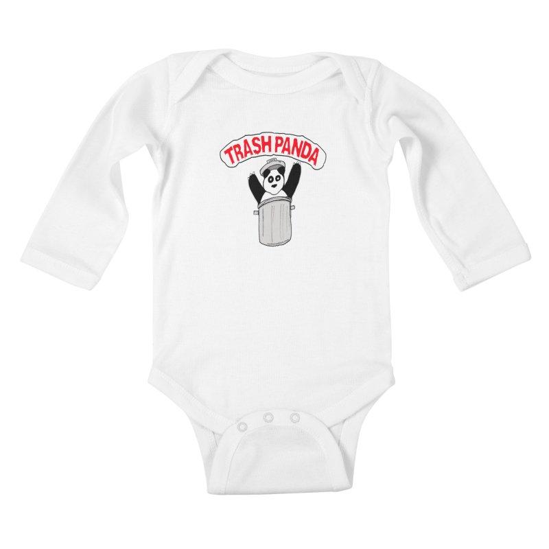 Trash Panda Kids Baby Longsleeve Bodysuit by Reef Musallam's Artist Shop
