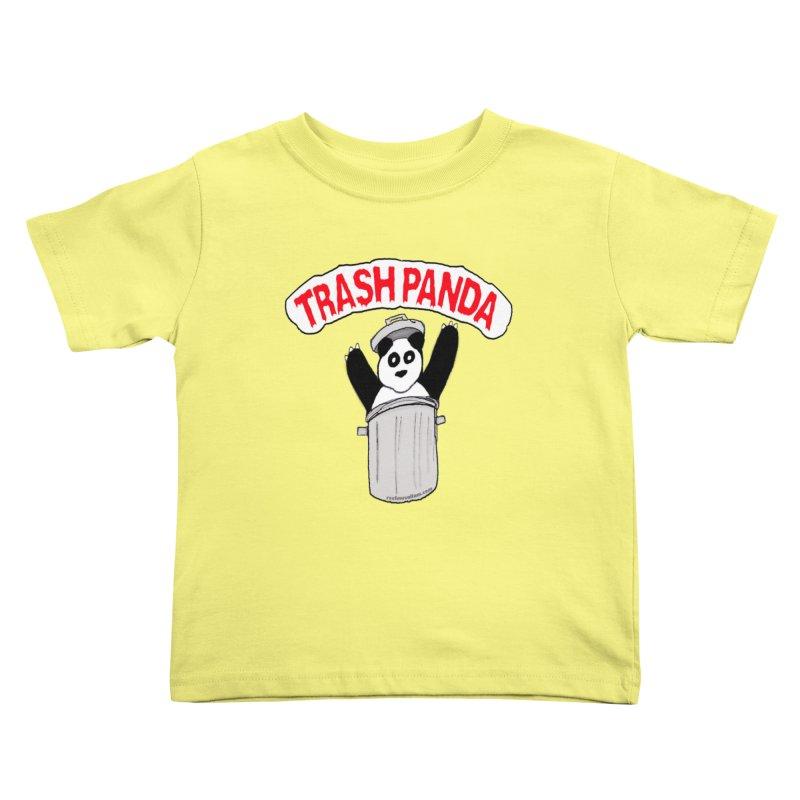 Trash Panda Kids Toddler T-Shirt by Reef Musallam's Artist Shop