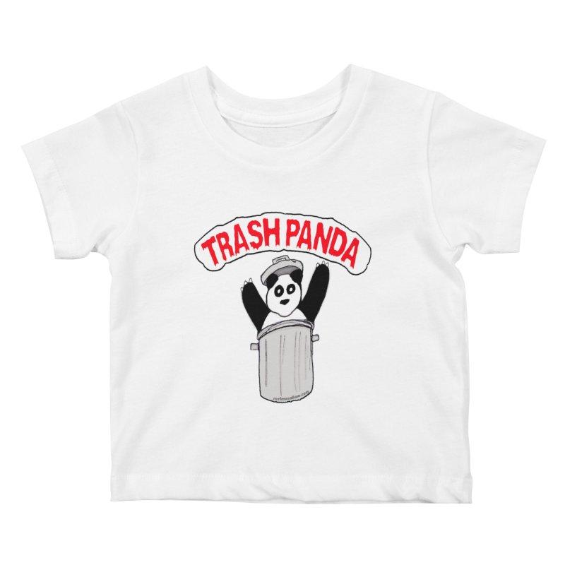 Trash Panda Kids Baby T-Shirt by Reef Musallam's Artist Shop