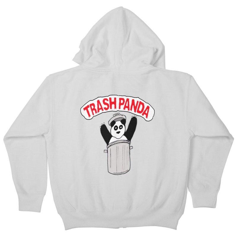 Trash Panda Kids Zip-Up Hoody by Reef Musallam's Artist Shop