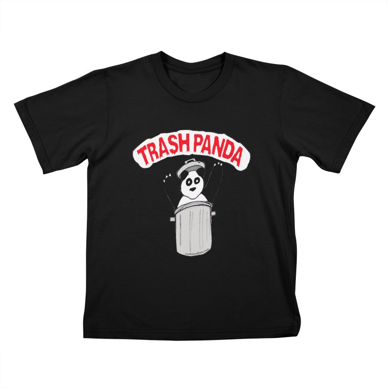 Trash Panda Kids T-Shirt by Reef Musallam's Artist Shop