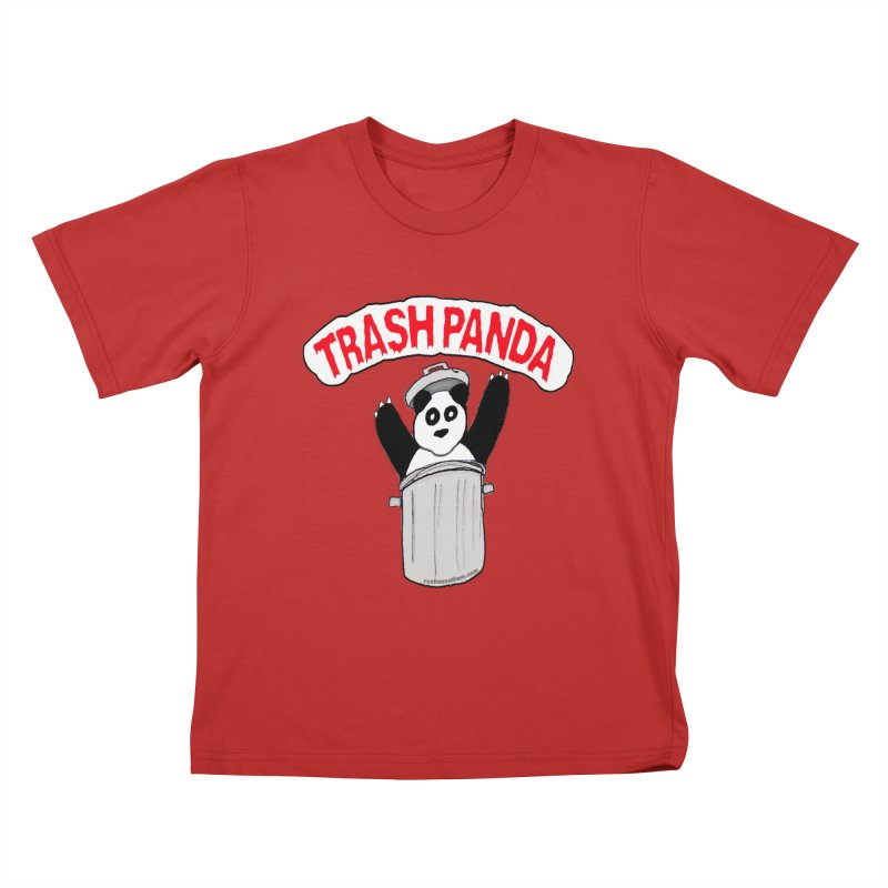 Trash Panda Kids T-Shirt by Reef Musallam's Artist Shop
