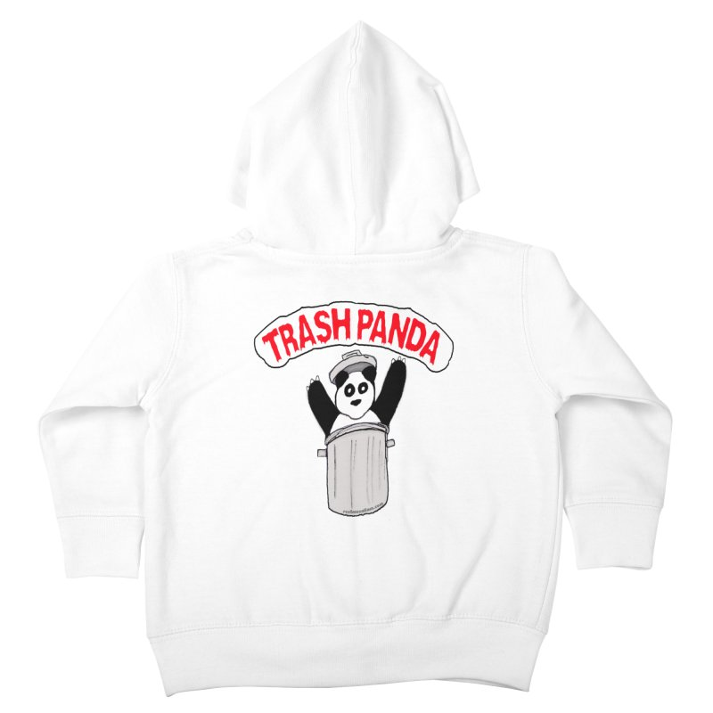 Trash Panda Kids Toddler Zip-Up Hoody by Reef Musallam's Artist Shop