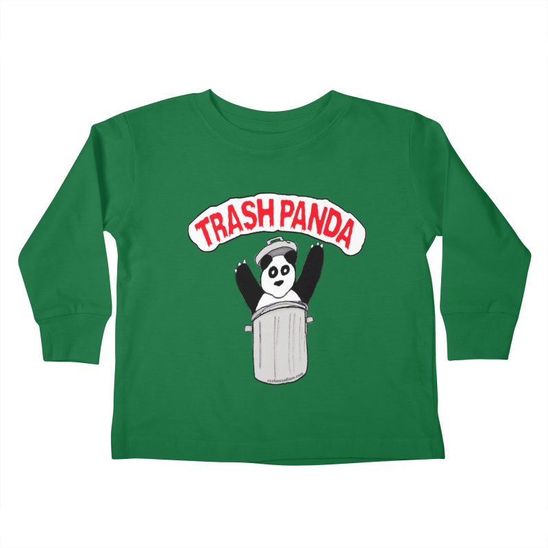 Trash Panda Kids Toddler Longsleeve T-Shirt by Reef Musallam's Artist Shop