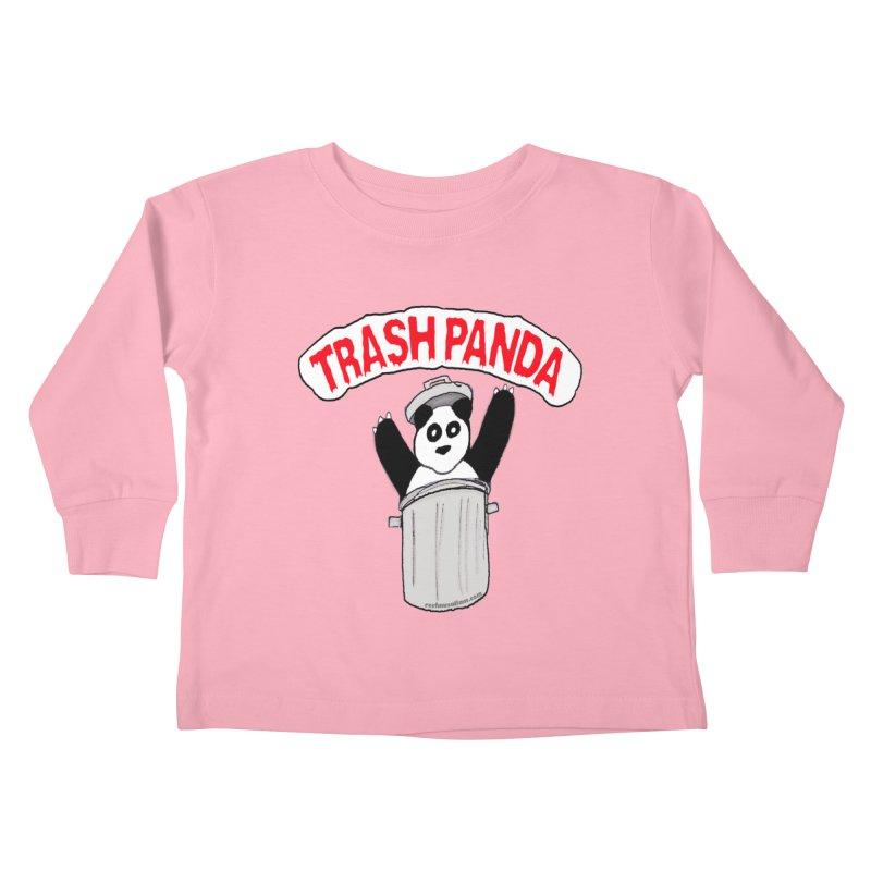 Trash Panda Kids Toddler Longsleeve T-Shirt by Reef Musallam's Artist Shop