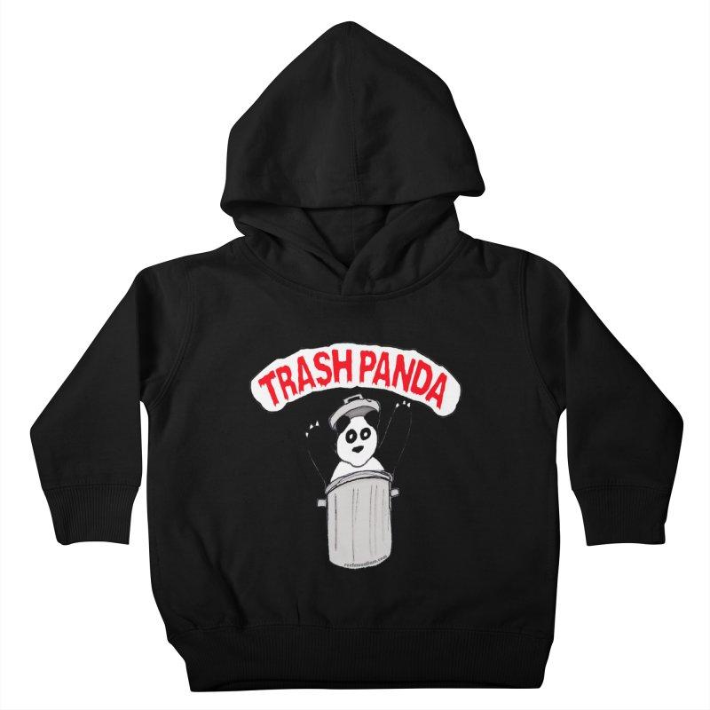 Trash Panda Kids Toddler Pullover Hoody by Reef Musallam's Artist Shop