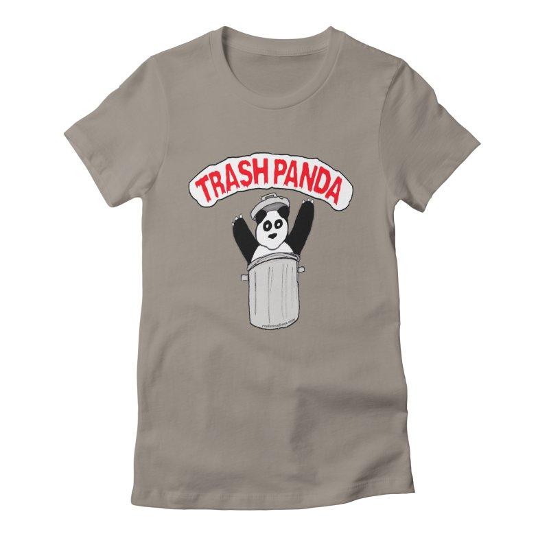 Trash Panda Women's Fitted T-Shirt by Reef Musallam's Artist Shop