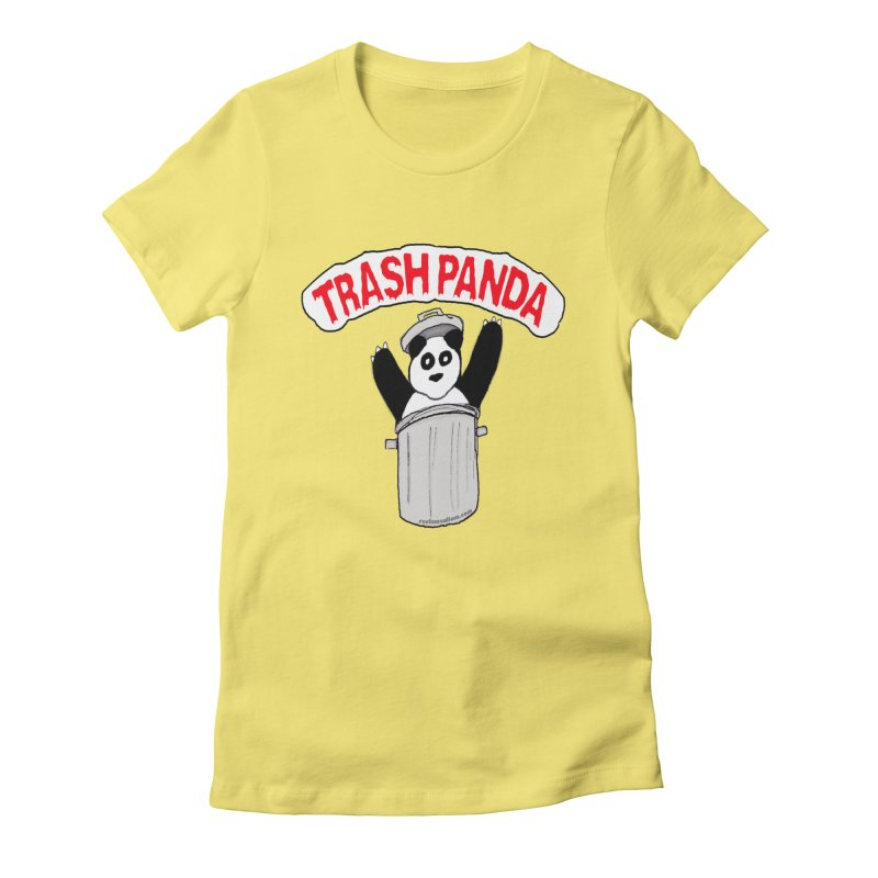 Trash Panda Women's Fitted T-Shirt by Reef Musallam's Artist Shop