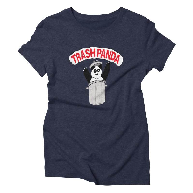 Trash Panda Women's Triblend T-Shirt by Reef Musallam's Artist Shop