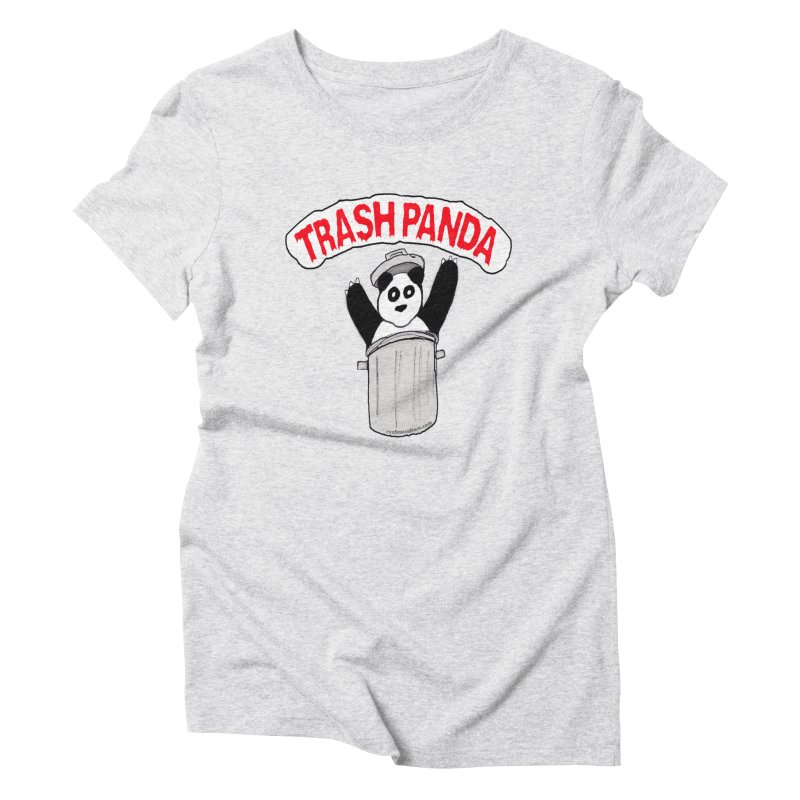 Trash Panda Women's Triblend T-Shirt by Reef Musallam's Artist Shop