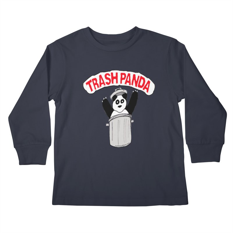 Trash Panda Kids Longsleeve T-Shirt by Reef Musallam's Artist Shop