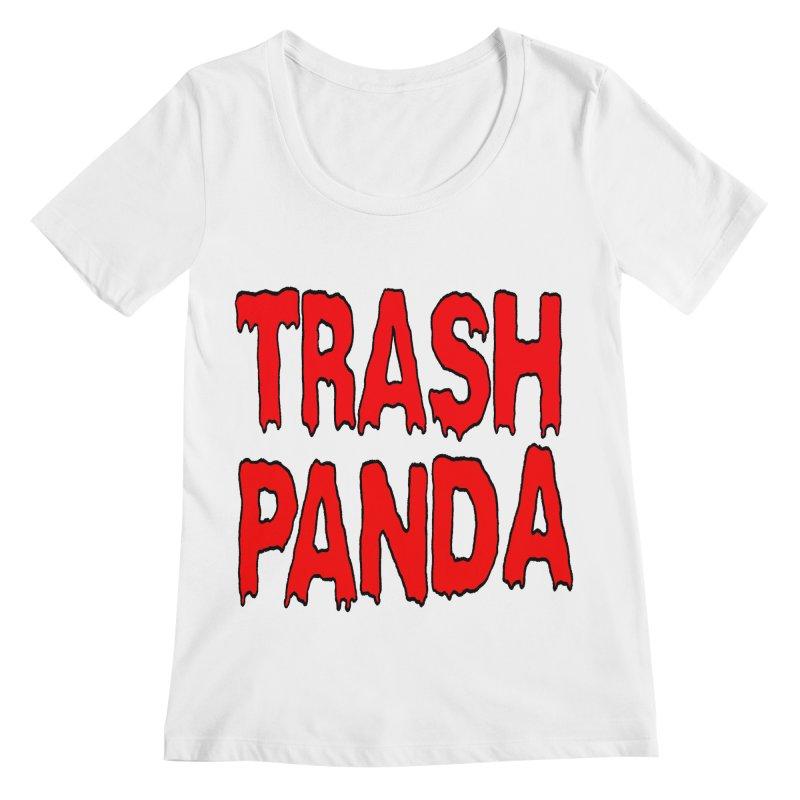 I'm A Trash Panda Women's Scoopneck by Reef Musallam's Artist Shop