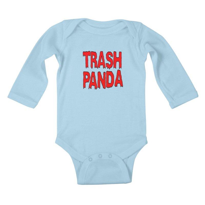 I'm A Trash Panda Kids Baby Longsleeve Bodysuit by Reef Musallam's Artist Shop