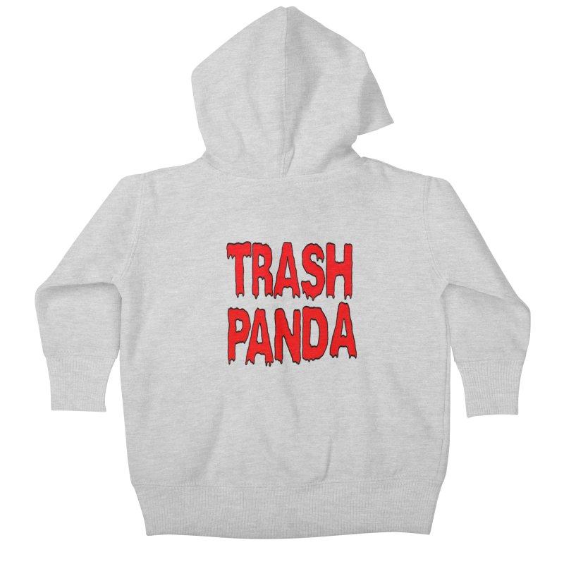 I'm A Trash Panda Kids Baby Zip-Up Hoody by Reef Musallam's Artist Shop