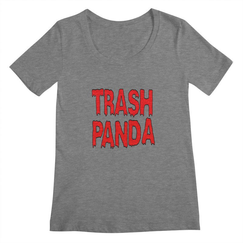 I'm A Trash Panda Women's Scoopneck by Reef Musallam's Artist Shop