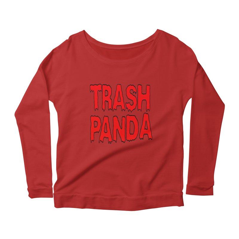 I'm A Trash Panda Women's Longsleeve Scoopneck  by Reef Musallam's Artist Shop