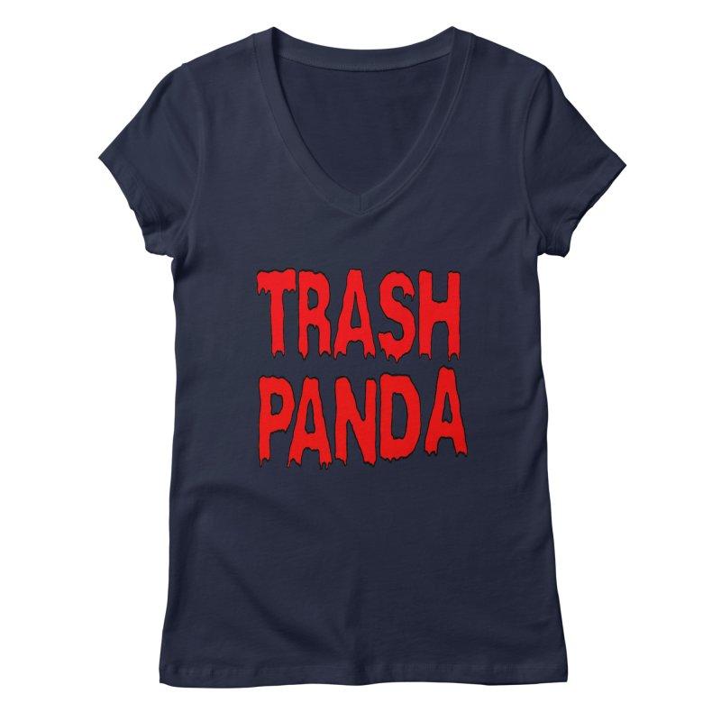 I'm A Trash Panda Women's V-Neck by Reef Musallam's Artist Shop