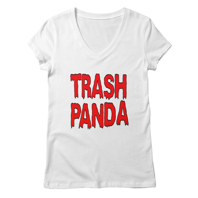 I'm A Trash Panda Women's Regular V-Neck by Reef Musallam's Artist Shop