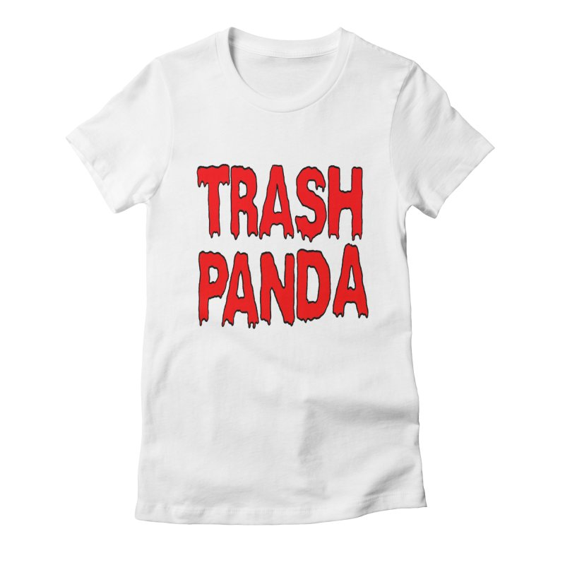 I'm A Trash Panda Women's Fitted T-Shirt by Reef Musallam's Artist Shop