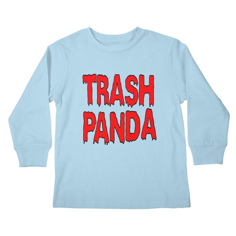 I'm A Trash Panda Kids Longsleeve T-Shirt by Reef Musallam's Artist Shop