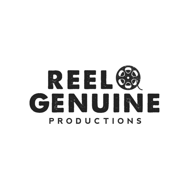 Reel Genuine Productions Logo Men's V-Neck by reelgenuine's Artist Shop