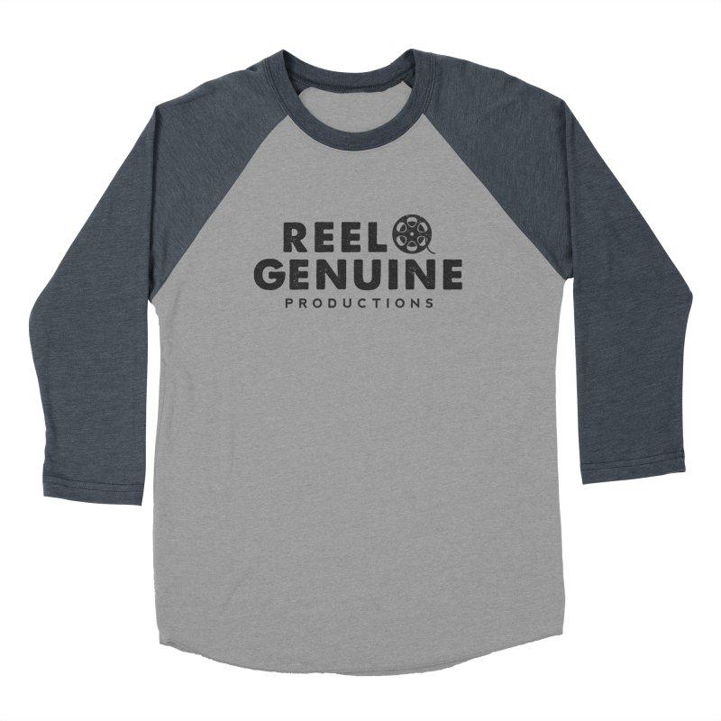 Reel Genuine Productions Logo Men's Baseball Triblend T-Shirt by reelgenuine's Artist Shop