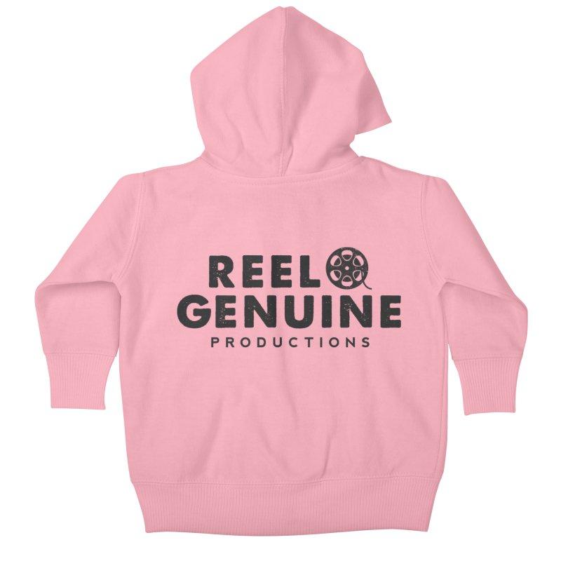 Reel Genuine Productions Logo Kids Baby Zip-Up Hoody by reelgenuine's Artist Shop