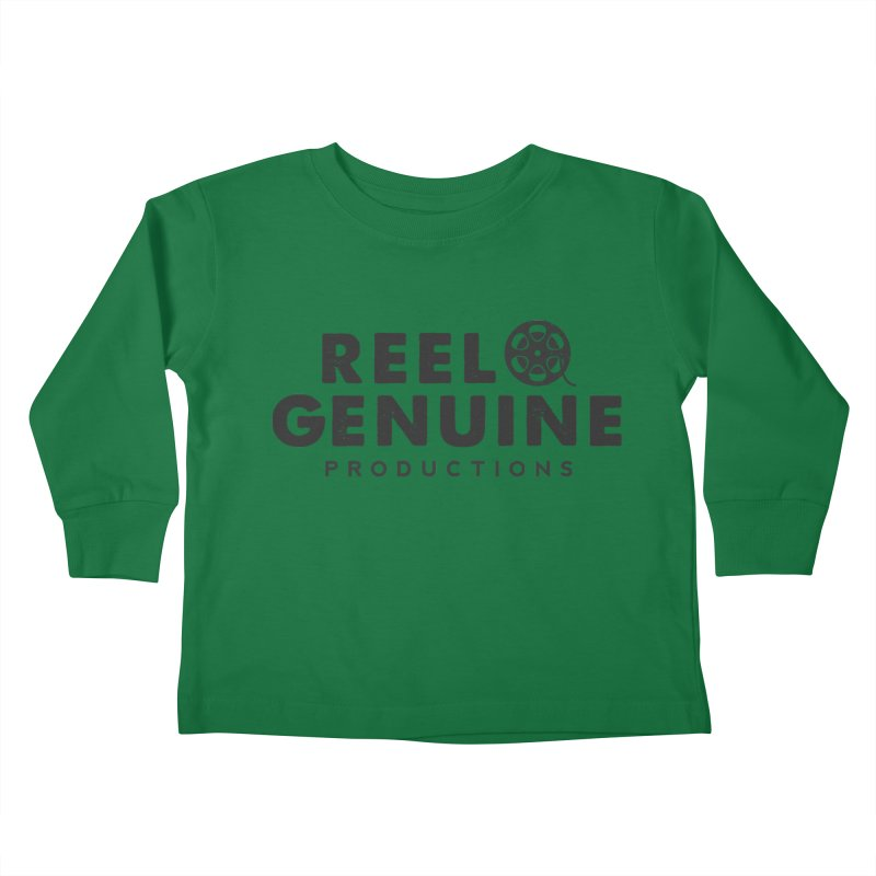 Reel Genuine Productions Logo Kids Toddler Longsleeve T-Shirt by reelgenuine's Artist Shop