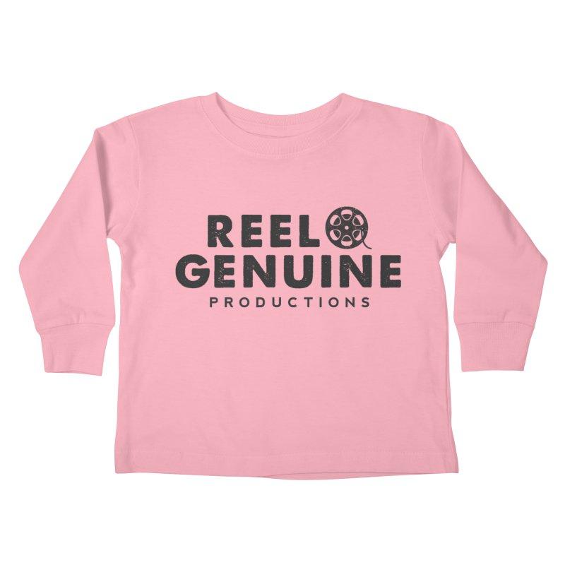 Reel Genuine Productions Logo Kids Toddler Longsleeve T-Shirt by reelgenuine's Artist Shop