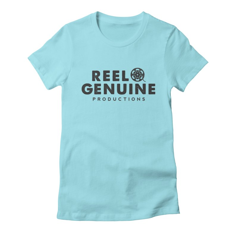 Reel Genuine Productions Logo Women's Fitted T-Shirt by reelgenuine's Artist Shop