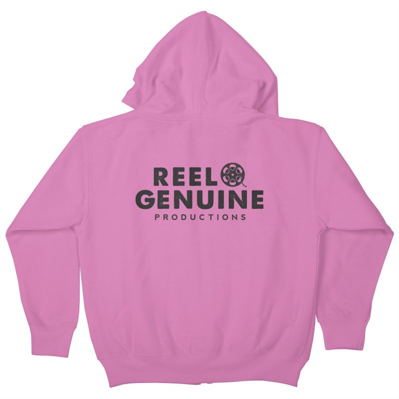 Reel Genuine Productions Logo Kids Zip-Up Hoody by reelgenuine's Artist Shop