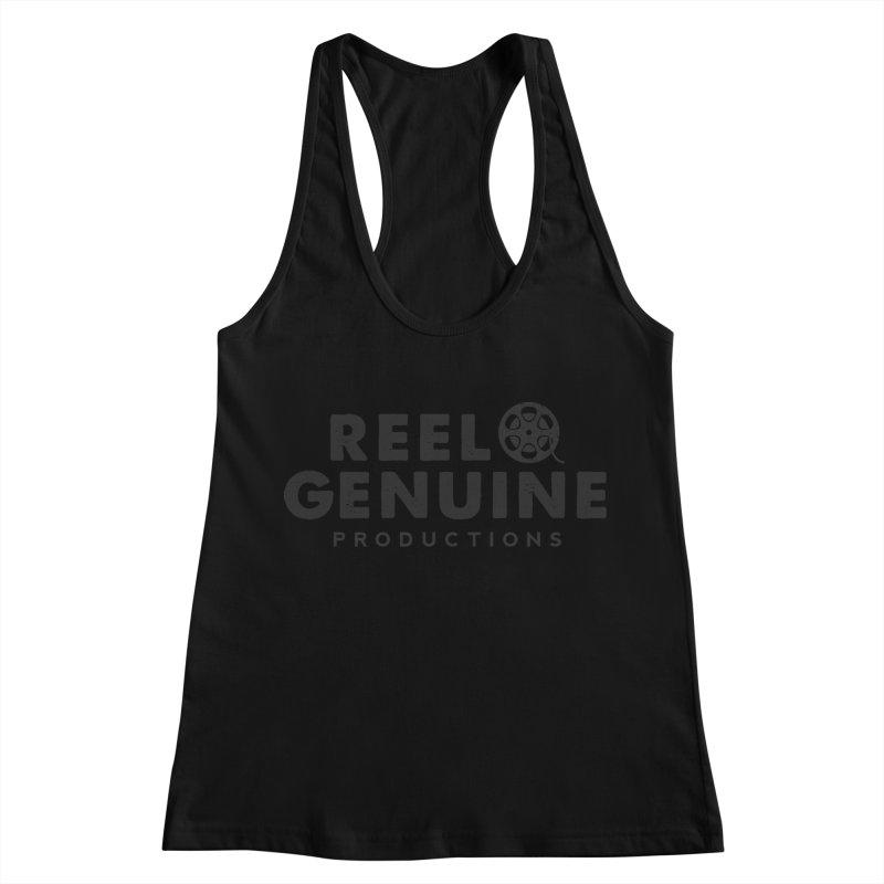 Reel Genuine Productions Logo Women's Racerback Tank by reelgenuine's Artist Shop