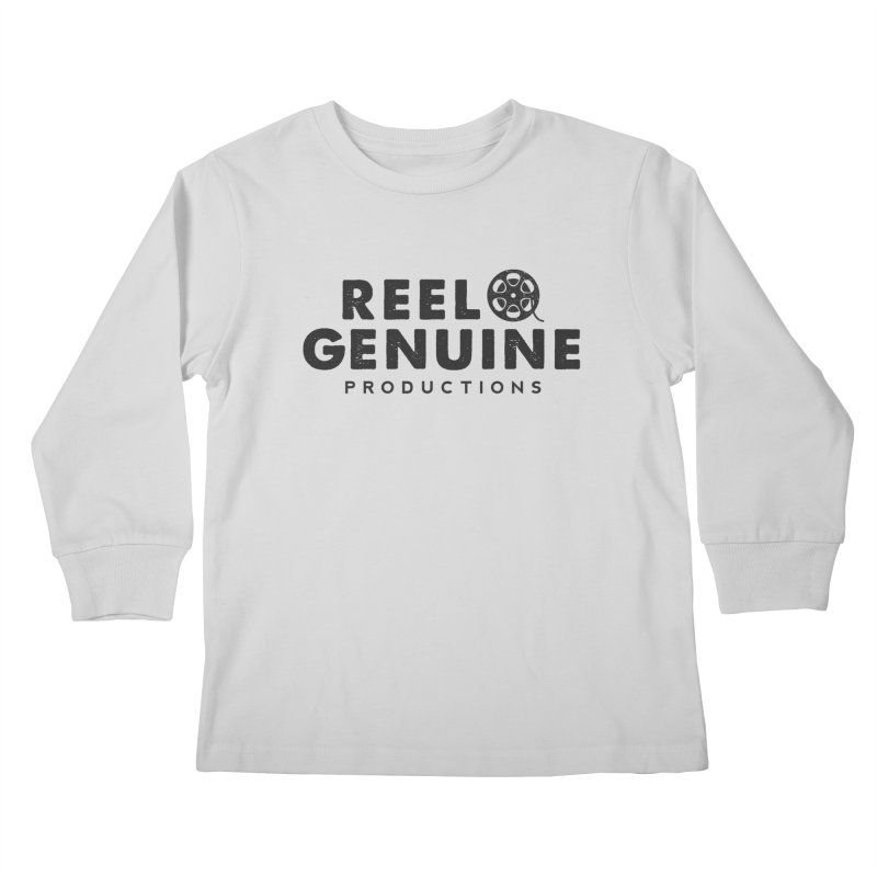 Reel Genuine Productions Logo Kids Longsleeve T-Shirt by reelgenuine's Artist Shop