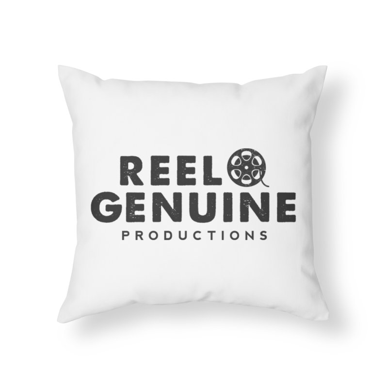 Reel Genuine Productions Logo Home Throw Pillow by reelgenuine's Artist Shop