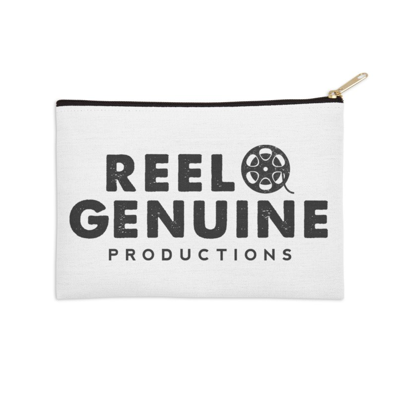Reel Genuine Productions Logo Accessories Zip Pouch by reelgenuine's Artist Shop