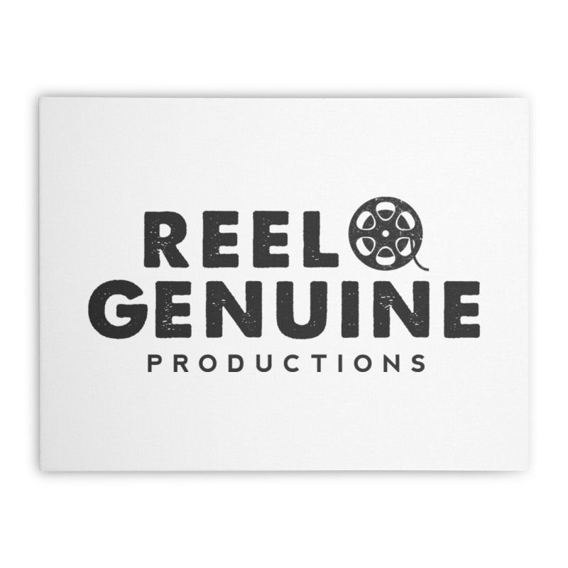Reel Genuine Productions Logo Home Stretched Canvas by reelgenuine's Artist Shop