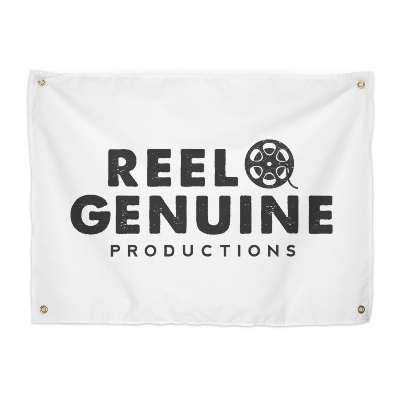 Reel Genuine Productions Logo Home Tapestry by reelgenuine's Artist Shop