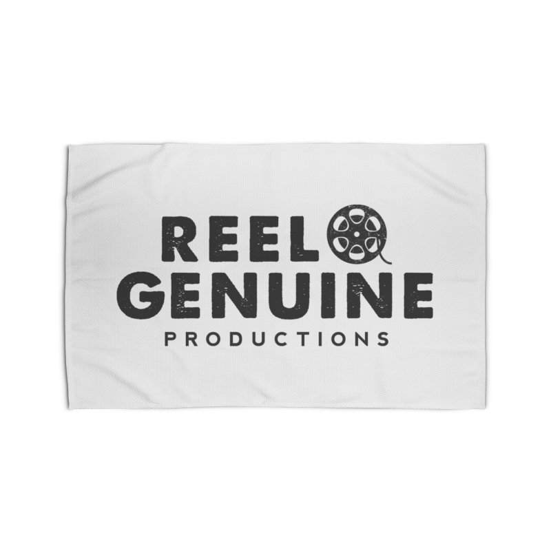 Reel Genuine Productions Logo Home Rug by reelgenuine's Artist Shop