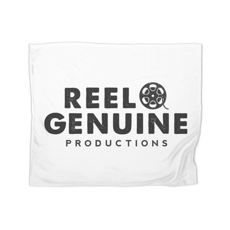 Reel Genuine Productions Logo Home Fleece Blanket Blanket by reelgenuine's Artist Shop