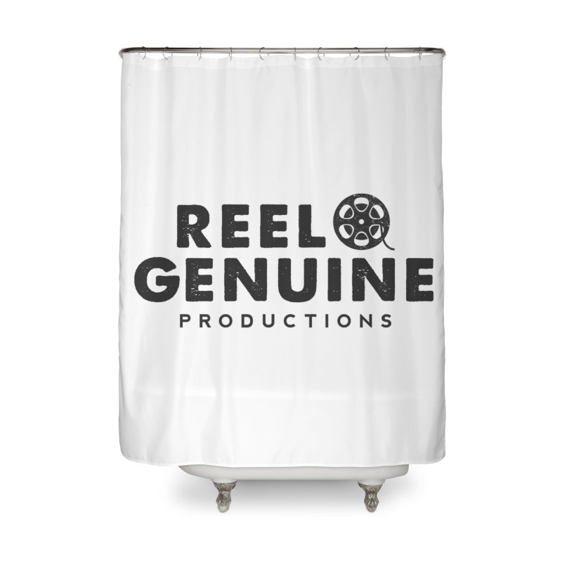 Reel Genuine Productions Logo Home Shower Curtain by reelgenuine's Artist Shop