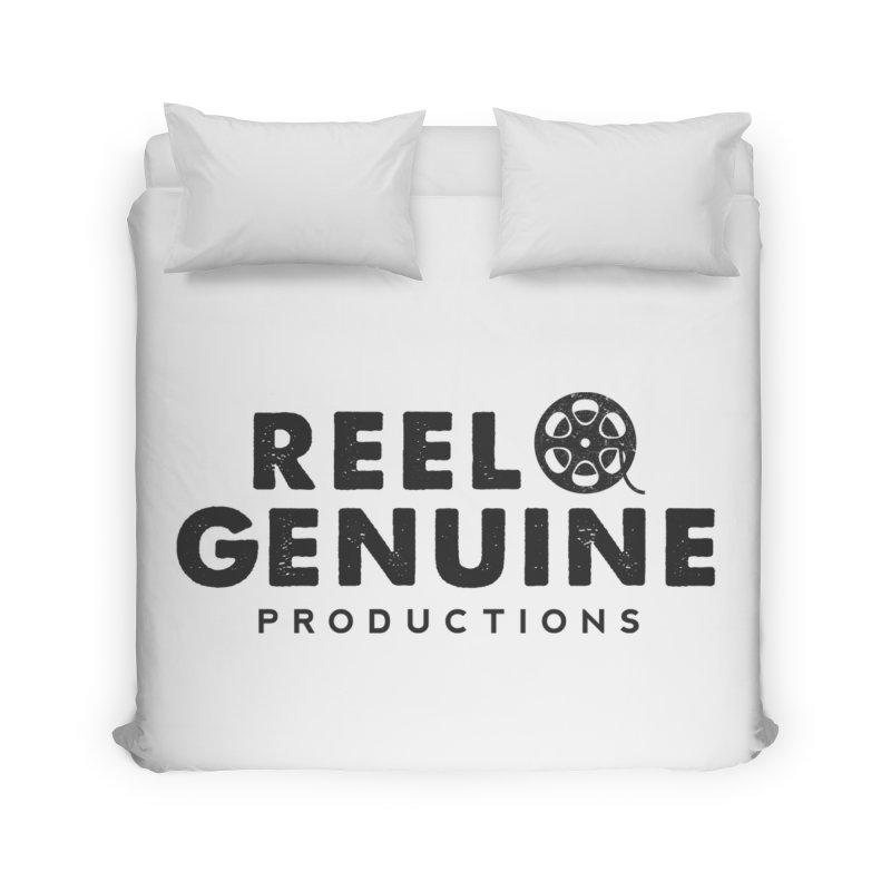 Reel Genuine Productions Logo Home Duvet by reelgenuine's Artist Shop