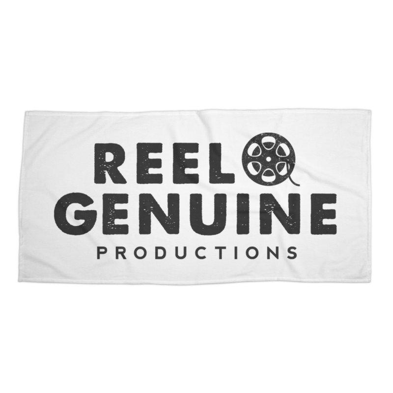 Reel Genuine Productions Logo Accessories Beach Towel by reelgenuine's Artist Shop