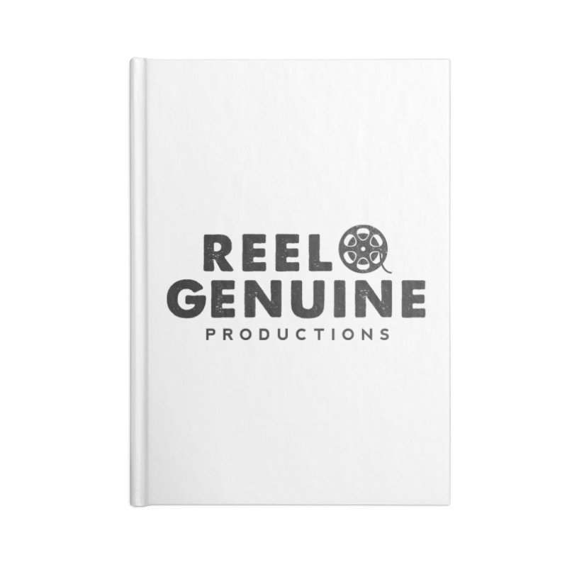 Reel Genuine Productions Logo Accessories Lined Journal Notebook by reelgenuine's Artist Shop