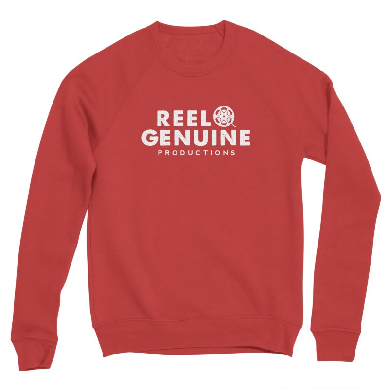 Reel Genuine Logo - White Men's Sponge Fleece Sweatshirt by reelgenuine's Artist Shop