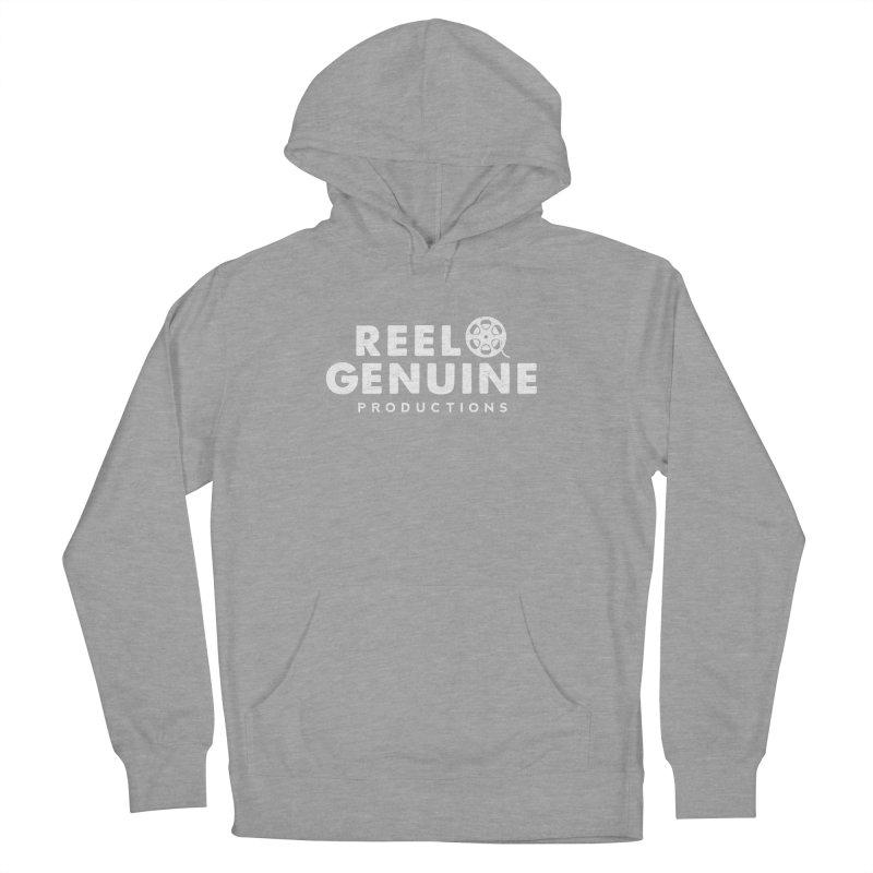 Reel Genuine Logo - White Women's French Terry Pullover Hoody by reelgenuine's Artist Shop