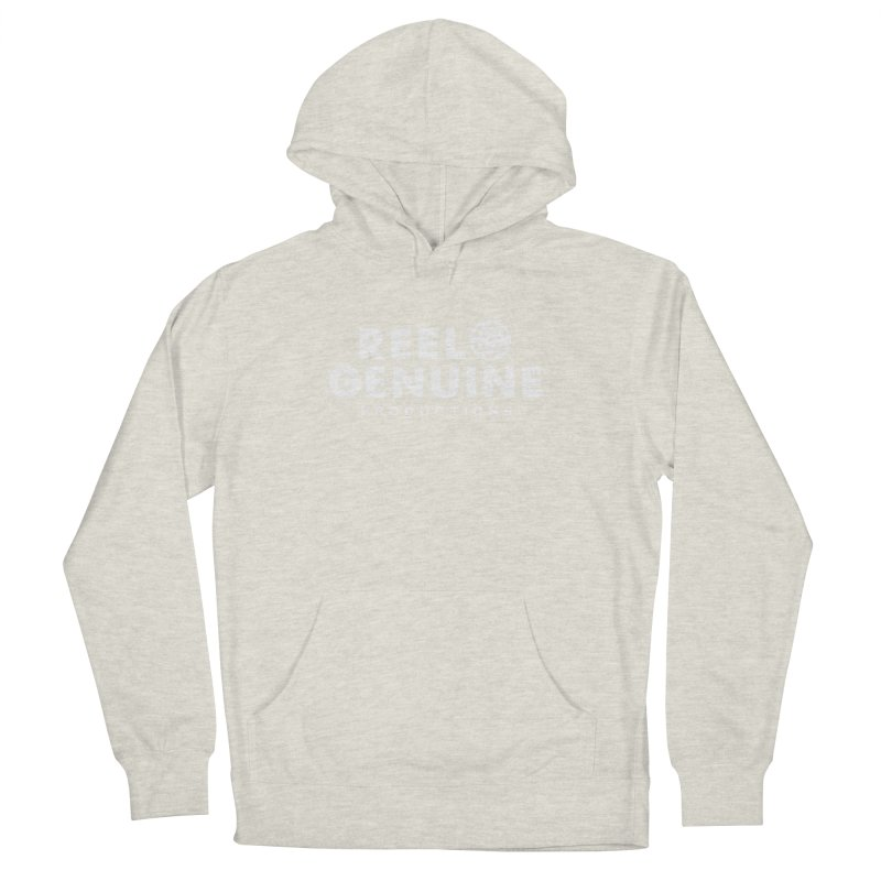 Reel Genuine Logo - White Women's French Terry Pullover Hoody by reelgenuine's Artist Shop